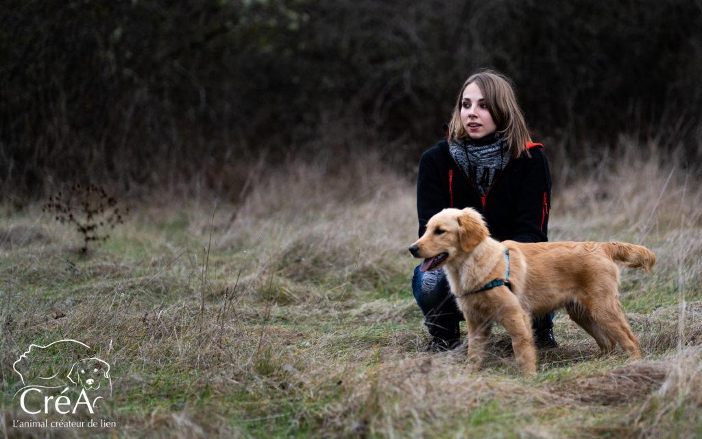 L'intervenant en médiation animale et son chien